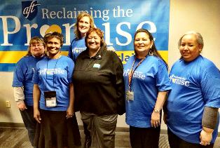 Lorretta Johson with leaders and members in Kansas